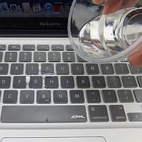 Apple MacBook Pro 13/15/17 Накладка на клавиатуру (прозрачный силикон, клавиша ENTER вертикально - раскл. EU)