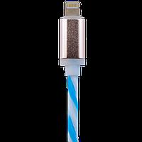 Кабель USB - Lightning 1м W-Bl (силикон) бело-голубой / Retail 5143