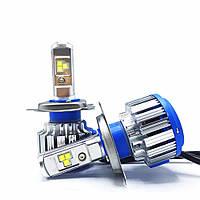 Автолампа LED H4 T1 Turbo, 80W, 7200LM, 6000K, 12V (пара), фото 1