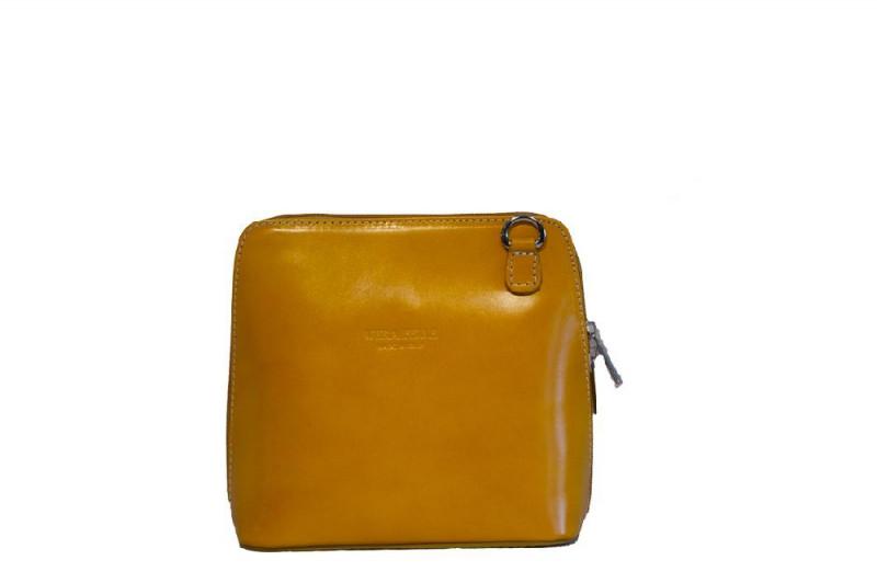 21238743a2c6 Женская кожаная сумка DIVAS RAMONA TR923 желтая - Интернет магазин