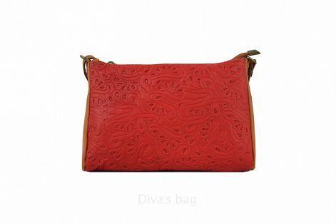 f2104a52a876 Женская кожаная сумка DIVAS Trasea TR 969 красная — купить в Киеве ...