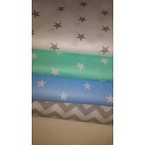 Постельное белье Звезды белые на мятном ранфорс ТМ Царский дом в кроватку, фото 3
