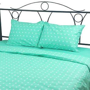 Постельное белье Звезды белые на мятном ранфорс ТМ Царский дом в кроватку, фото 2