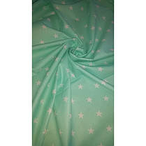 Постельное белье Звезды белые на мятном ранфорс ТМ Царский дом  подростковый , фото 2