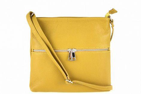 7997a6c5393e Женская кожаная сумка DIVAS Josslyn TR997 желтая - Интернет магазин