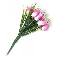 Тюльпаны розовые букет (25 см)