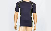 Компрессионная мужская футболка с коротким рукавом LD-1102-G