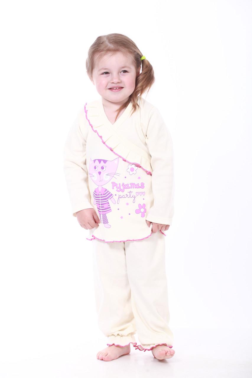 Пижама для девочек молочная