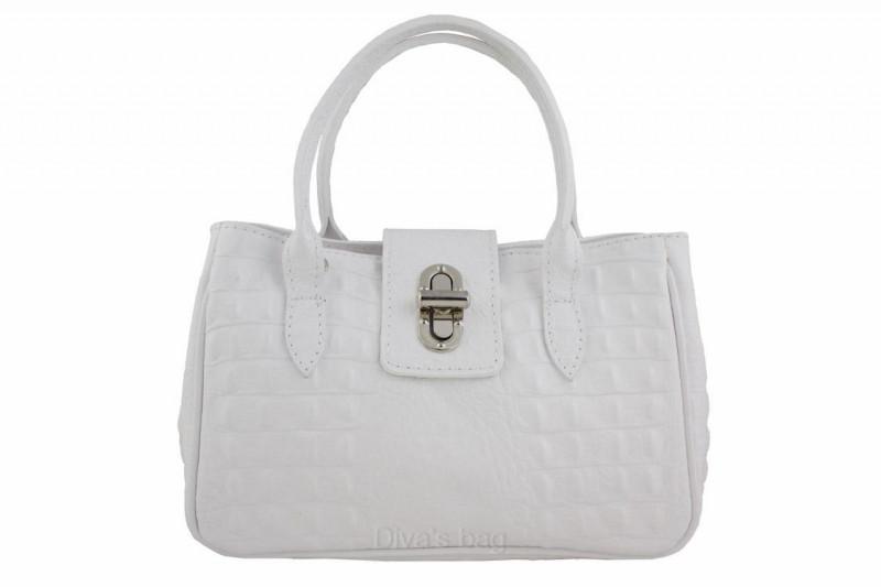 0fab6409824e Женская кожаная сумка DIVAS NARCISA М8904 белая - Интернет магазин