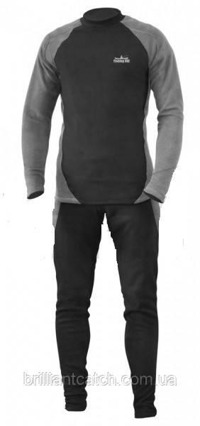 Термобелье Fishing ROI микрофлис (XL) черно-серое