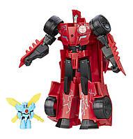 Transformers - Трансформер Сайдсвайп с миниконом Hasbro Sideswipe Роботы под прикрытием: Заряженные Герои