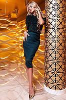 Юбка Санити изумруд Jadone Fashion 42-48 размеры
