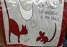 Постельный комплект махровый Кошки