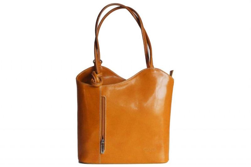 ab9058e8c10f Женская кожаная сумка DIVAS CHIARA S6833 желтая - Интернет магазин