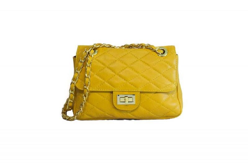3d69a4256ff0 Женская Кожаная Сумка DIVAS VALENTINA TR924 Желтая — в Категории ...