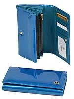Кошелек женский лакированый синий GOLD BRETTON W412 l-blue