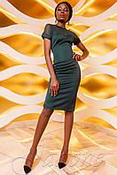 Трикотажное платье Наргиз изумруд Jadone  42-48 размеры
