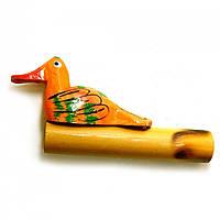 """Музыкальный инструмент """"Крякающая утка"""" оранжевая (11х5,5х2 см)"""