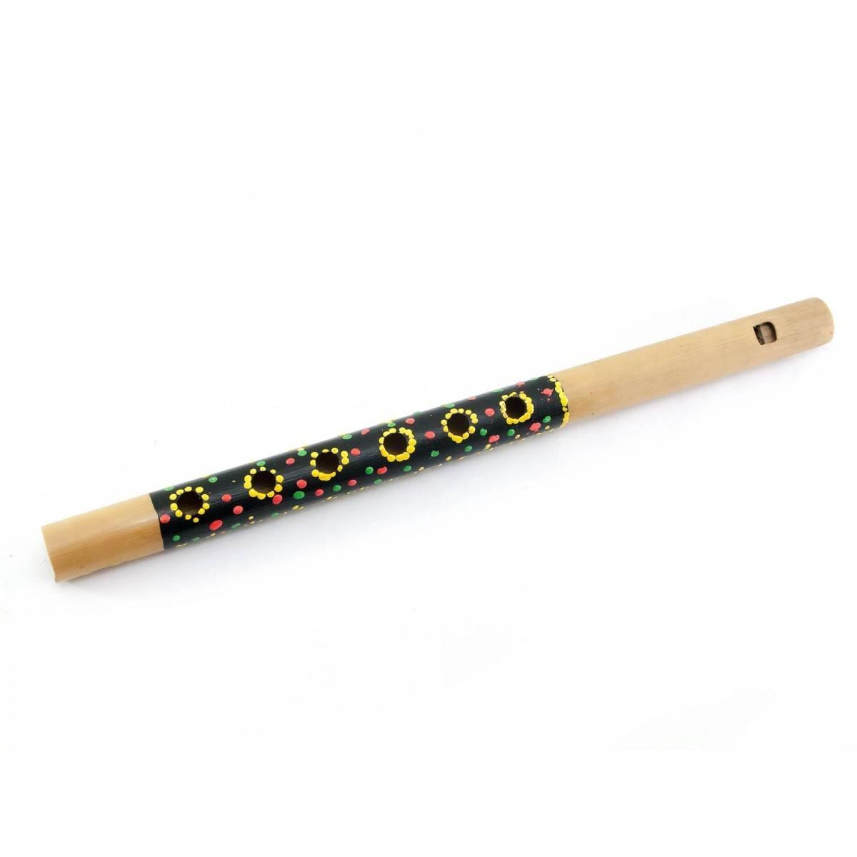 Флейта бамбуковая расписная (30,5х2х2 см)