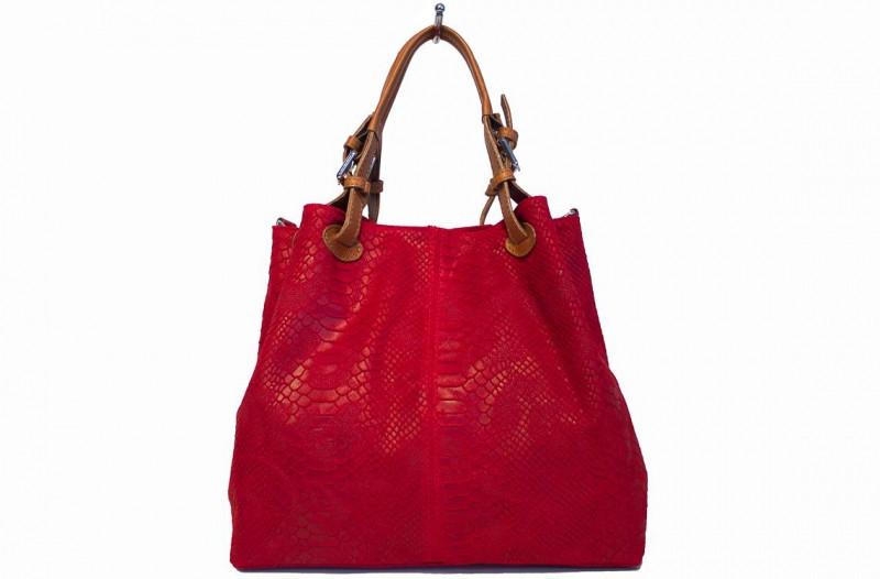 7879c6d38bc0 Женская кожаная сумка DIVAS IRIS S6929 красная — купить в Киеве недорого
