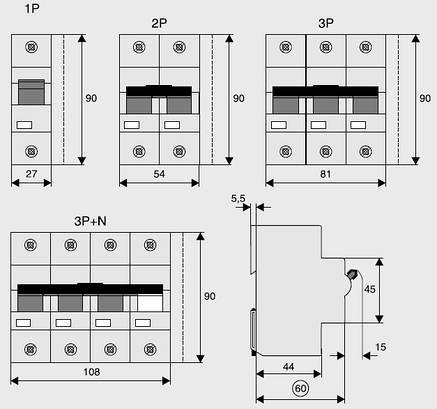 Автоматичний вимикач PLHT-B100/3 (248031) Eaton 100A 3P 15kA, фото 2