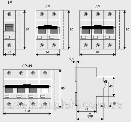 Автоматичний вимикач PLHT-C32/3N (248061) Eaton 32A 3Np 20kA, фото 2