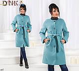 Пальто на пуговицах и поясе кашемир 48,50,52,54,56, фото 3