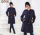 Пальто на пуговицах и поясе кашемир 48,50,52,54,56, фото 4