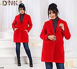 Пальто с воротом и карманами 48,50,52,54,56, фото 2