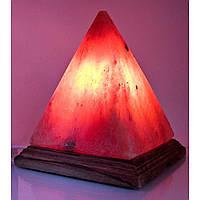 """Соляная лампа (S-035) """"Пирамида на деревянной подставке """" (18х18х18см)(4 шт ящ.)(Гималайская соль)"""