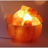 """Соляная лампа (S-029) """"Чаша огня """" (d-16,h-8 см)(12 шт ящ.)(Гималайская соль)"""