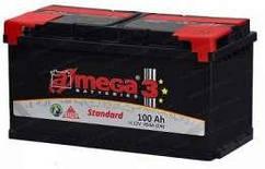 Аккумулятор Автомобильный 100 Ah (100 Ач) (Амега) A-MEGA Standart