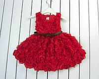 Платье на девочку Розы 3 Д, фото 1