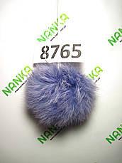 Меховой помпон Кролик, Сирень, 9 см, 8765, фото 2