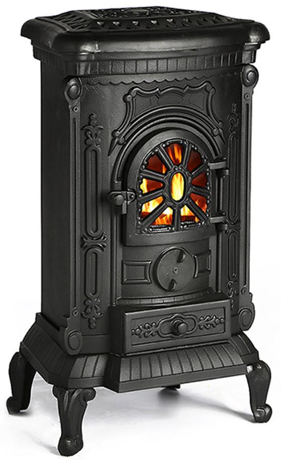 Чугунная печь камин Gridin 9 кВт