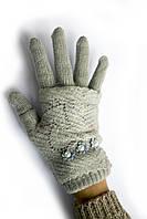 Женские вязаные перчатки на зиму отличного качества