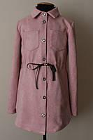Платье рубашка для девочки подростка, замша