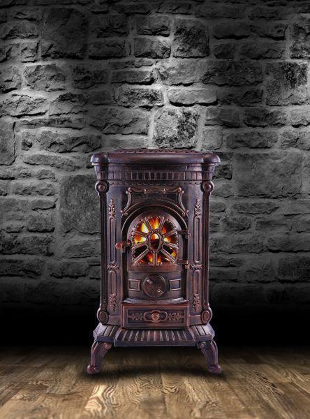 Чугунная печь камин Ambre 9 кВт
