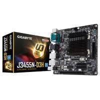 Материнская плата GIGABYTE GA-J3455N-D3H CPU Celer J3455 (2.3 GHz) Quad-Core VGA-HDMI 2xCOM mITX (GA-J3455N-D3H)