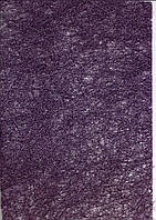 Сизаль листовой прессованный А4 фиолетовый с глиттером