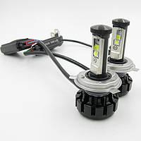 Автолампа LED H4 V18 Turbo, 80W, 8000LM, 6000K, 12-24V (пара), фото 1