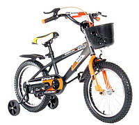 """Велосипед двухколесный Kids Bike  20"""" , с корзинкой,  оранжевый"""