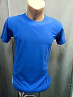 Однотонная голубая футболка Rake