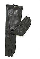 Женские длинные перчатки из кожи 490мм