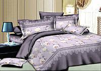 Комплект постельного белья евро ранфорс 100% хлопок. Постільна білизна. (арт.8455)