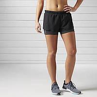 Оригинальные шорты для бега Reebok RUNNING 2-IN-1