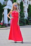 Женское летнее платье макси без бретелек, фото 1