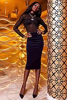 Женская темно-синяя юбка Торри Jadone Fashion 42-48 размеры