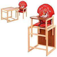 Стульчик для кормления деревянный V-010-21-6