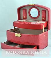 Шкатулка для украшений,ювелирных изделий,бижутерии №8965 (розовая)